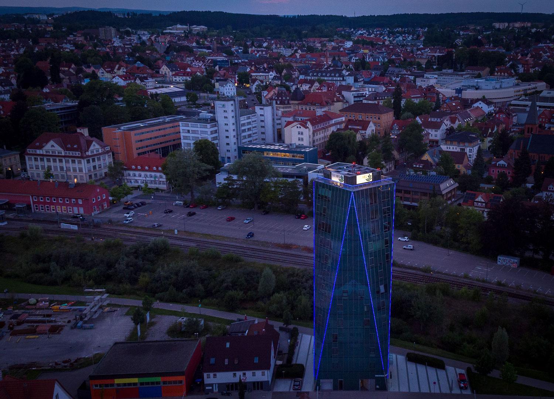 Neckartower bei Nacht