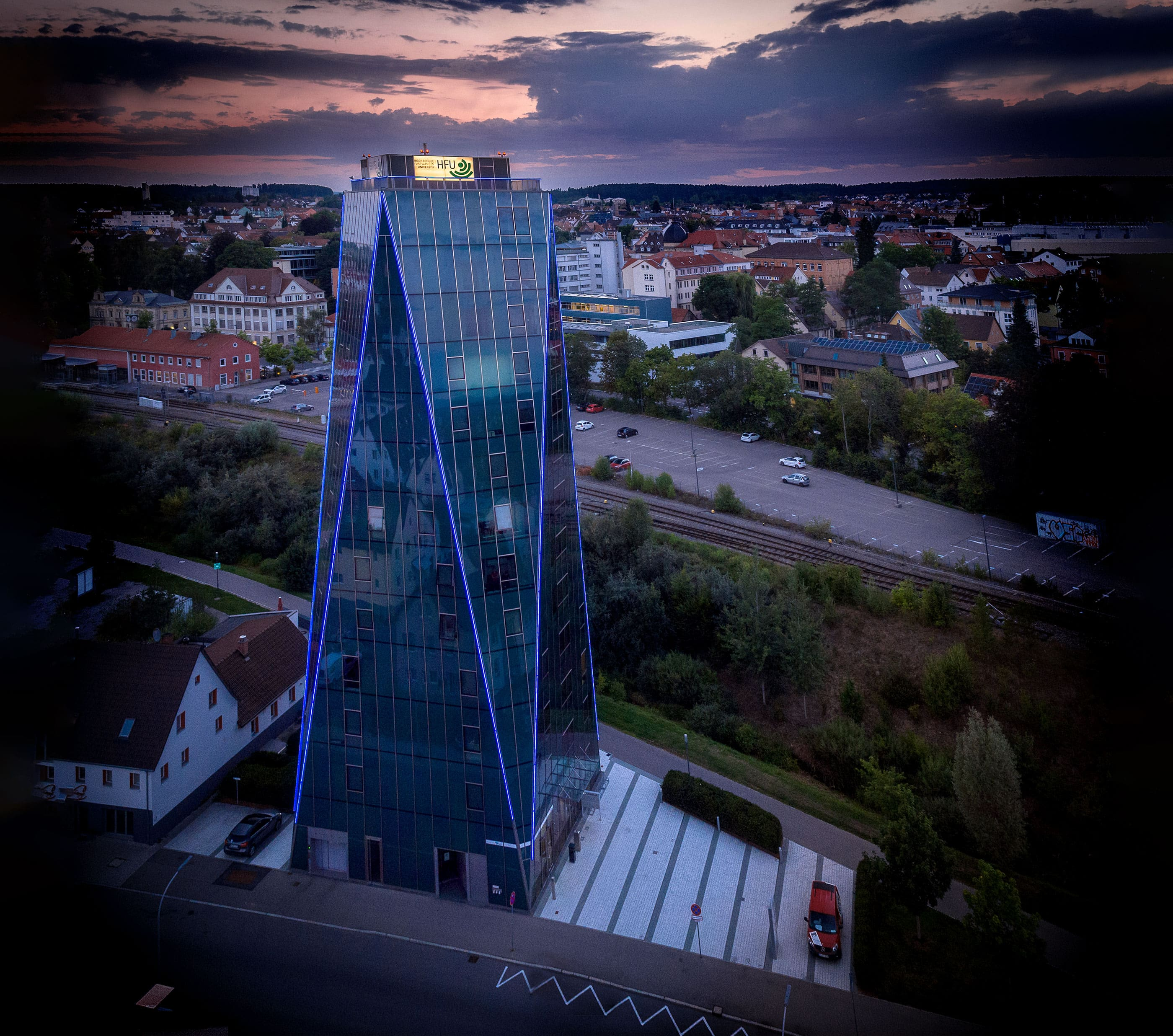 Neckartower Beleuchtung